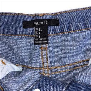 Forever 21 Skirts - Forever 21 blue denim-faded wash mini skirt.